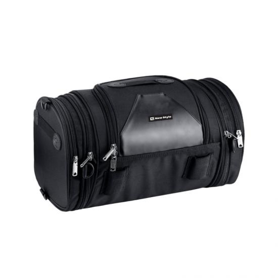 Expandable motorcycle tail bag